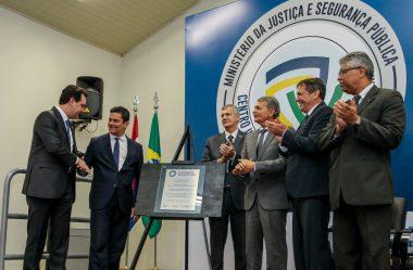 MORO INAUGURA UNIDADE CONTRA CRIMES DE FRONTEIRA EM FOZ
