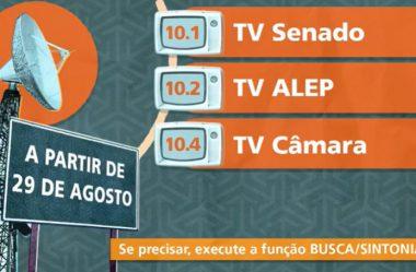 TV ASSEMBLEIA TEM NOVO NÚMERO DE SINTONIA A PARTIR DE SÁBADO (29/08)