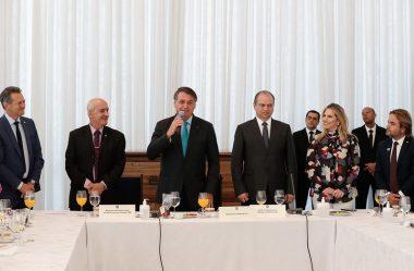 BOLSONARO AGRADECE O EMPENHO DE VICE-LÍDERES NA APROVAÇÃO DE MATÉRIAS