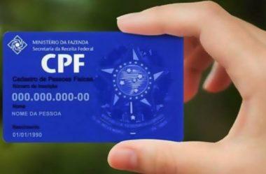 CÂMARA APROVA CPF COMO ÚNICO NÚMERO DE IDENTIFICAÇÃO
