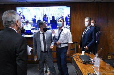 SENADORES RENAN E FLÁVIO BOLSONARO DISCUTEM APÓS CPI