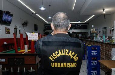 EM CURITIBA, FISCALIZAÇÃO INTERDITA 47 ESTABELECIMENTOS EM 2 DIAS