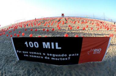BRASIL SUPERA 100 MIL MORTES POR COVID-19, SEGUNDO CONSÓRCIO DE VEÍCULOS DE IMPRENSA