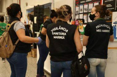 MARINGÁ: FISCALIZAÇÃO VISTORIA 143 ESTABELECIMENTOS NO FIM DE SEMANA