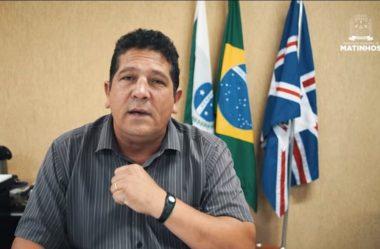 """PREFEITO DE MATINHOS APELA POR RESPEITO AO """"TOQUE DE RECOLHER"""""""