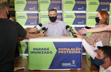 PARANÁ RECEBE 102.500 DOSES DA VACINA ASTRAZENECA